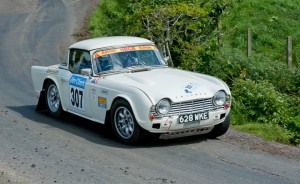 Fitted to the trick little triumph TR4