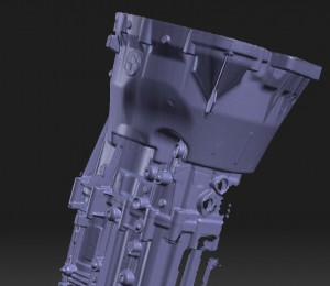 ZF sx speed gearbox from desert Warrior scanned in 3D