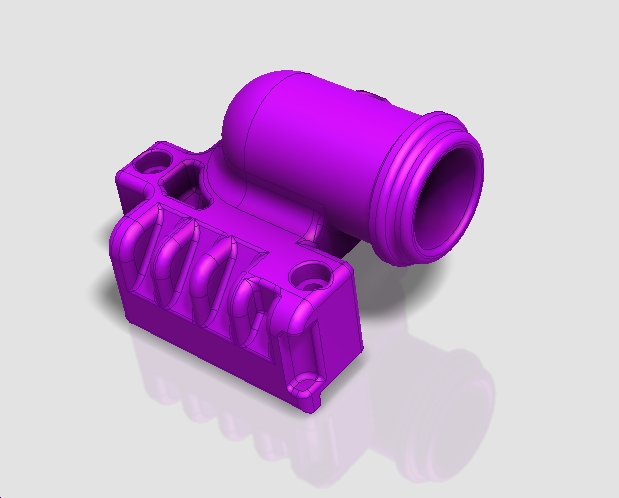 BMW diesel M57 and M57 N engine breather 3D printed