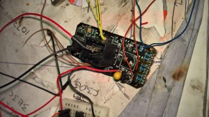 This is the test wiring before the PIC chip is glued in
