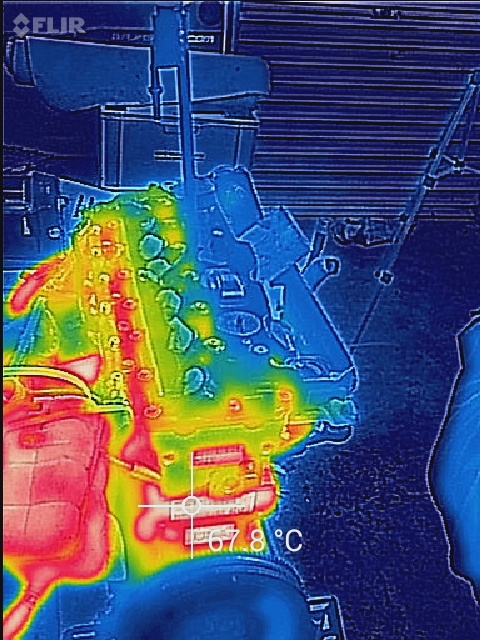 Testing 1.2.3 the Thermal image camera gets up to temperature