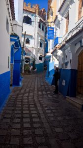 blue streets in the towns
