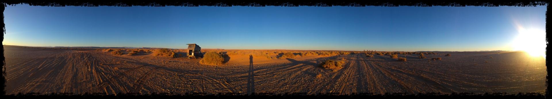panarama of desert camp