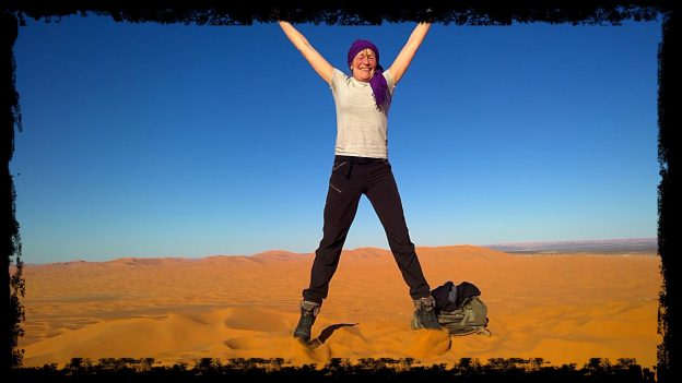 Millys wish , Christmas at the dunes of the erg Chebbi camped at the Ksar Sania.