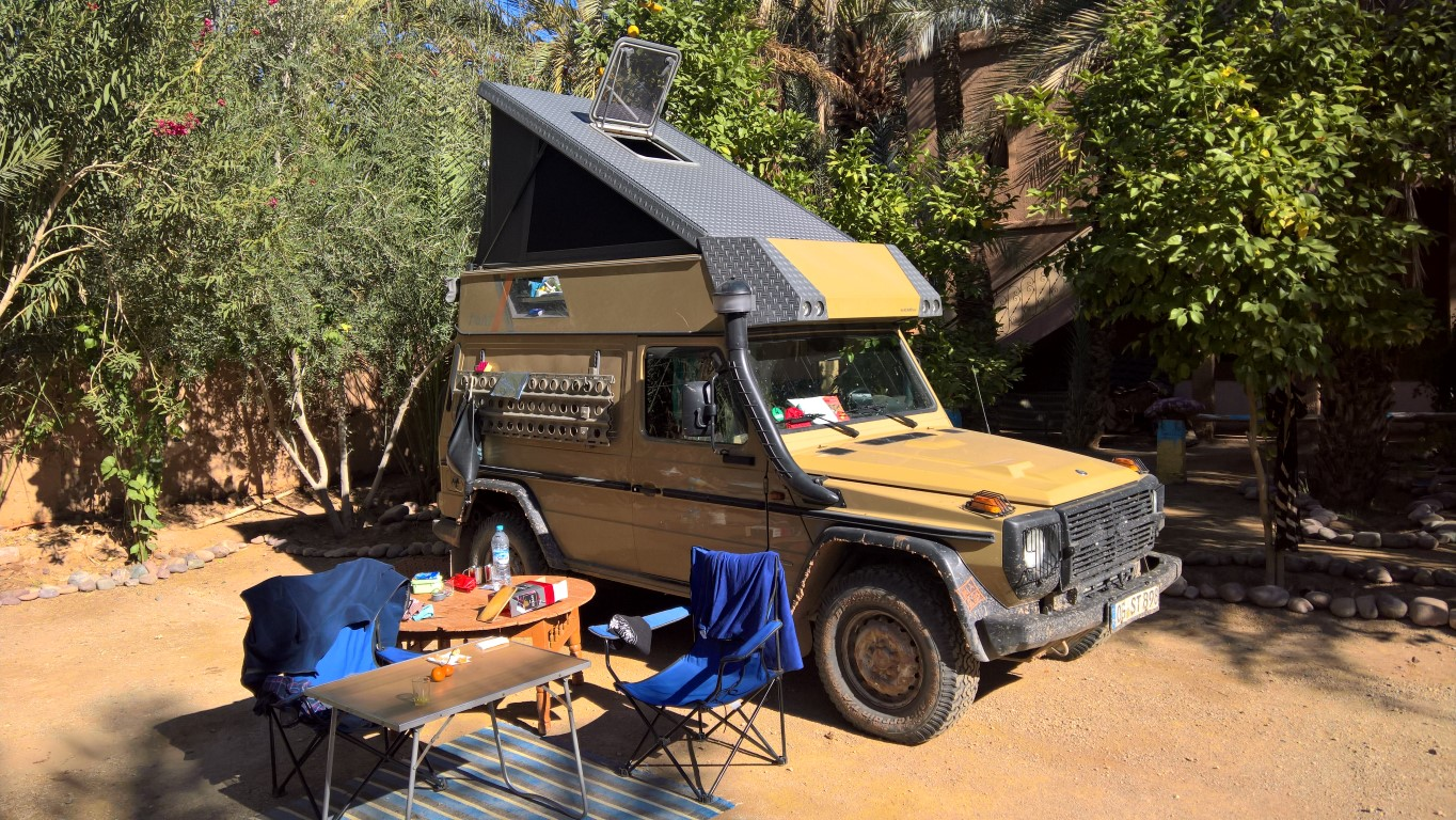 mercedes g wagon off road camper, bought not built