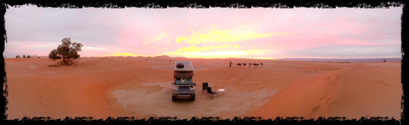 Onwards to the far south desert tracks, Lac Iriki and the dunes of Erg chaggaga.