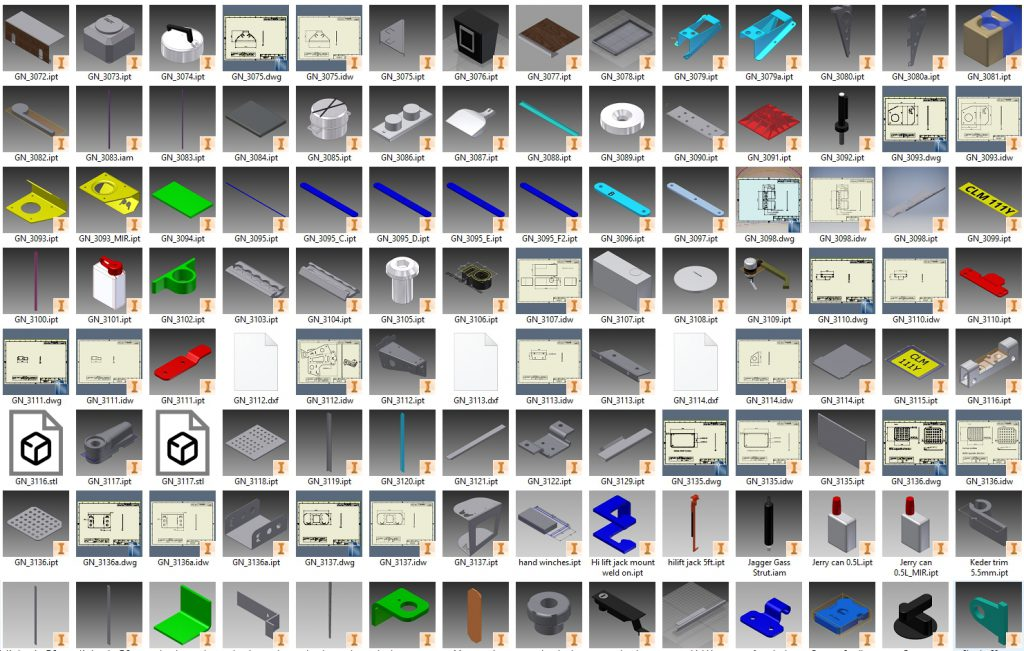 over 500 items modelled for the design