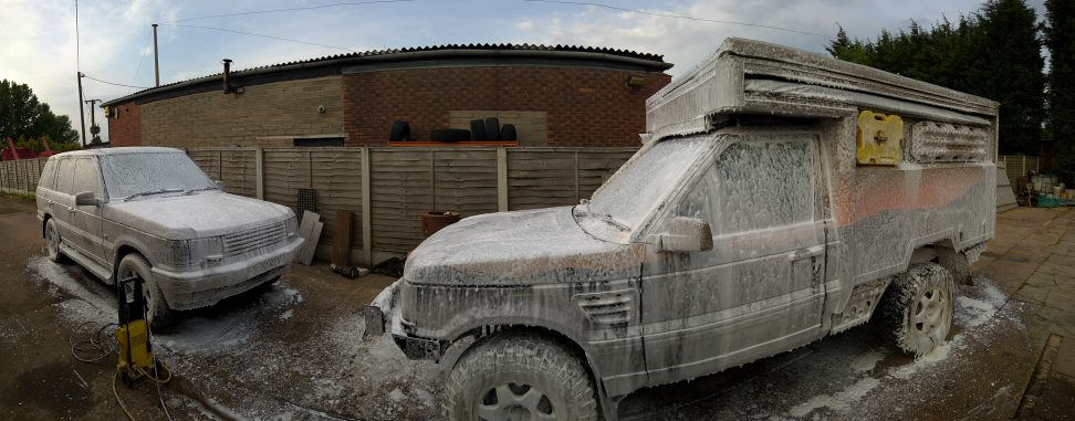 Snow foam wash for the P38's