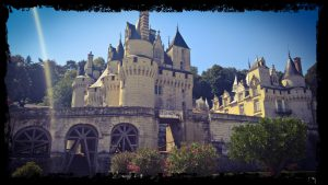 real disney castle in Loire france, overland wild camping