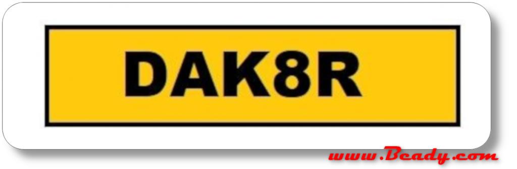 immatriculation pate DAK 8R