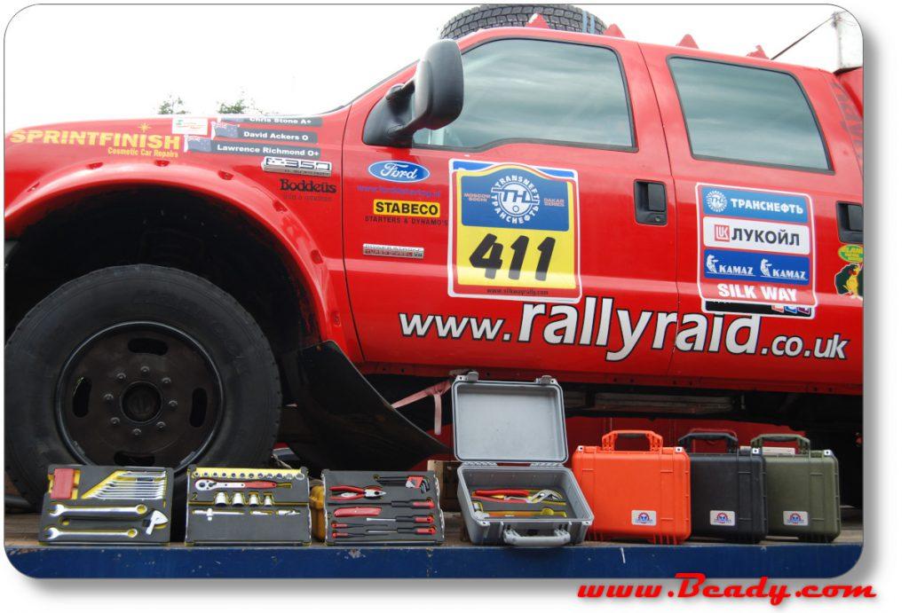 hellanbak extreme toolcases for dakar rally cars