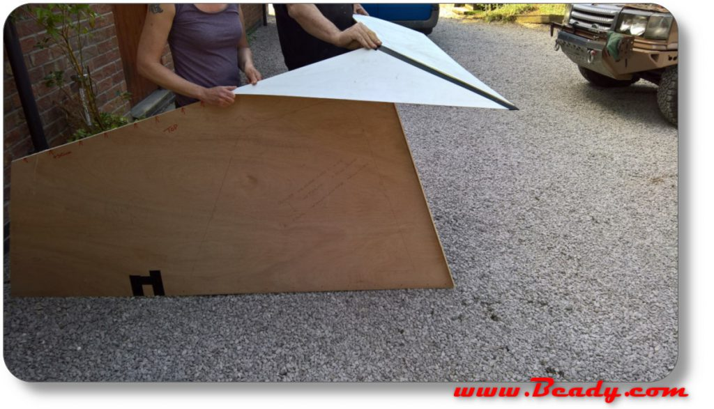roof template for campervan material