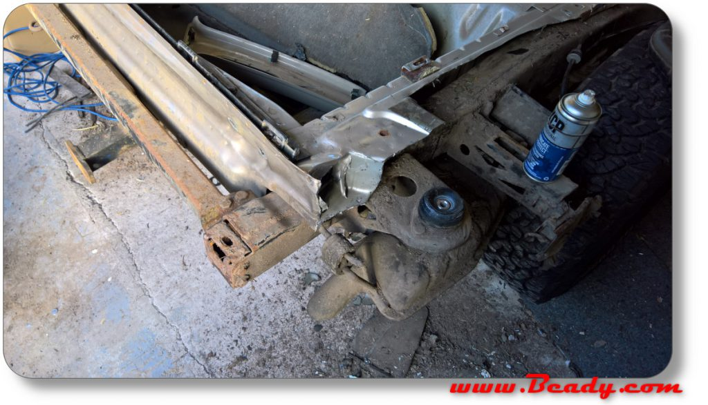 Range rover floor cutaway