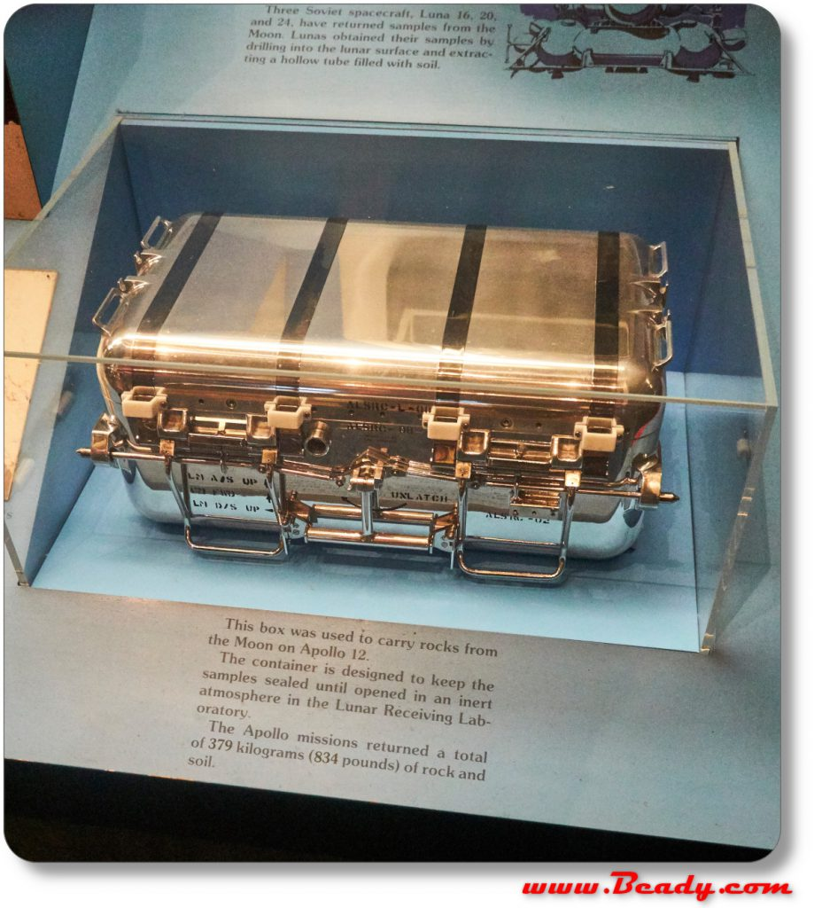 World toughest and most extreme case made by NASA for space mission, on display at the national air and space museum in Washington