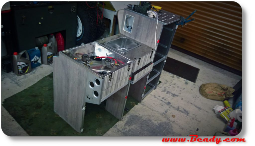 just fantastic kitchen units aircraft quality for extreme camper van design