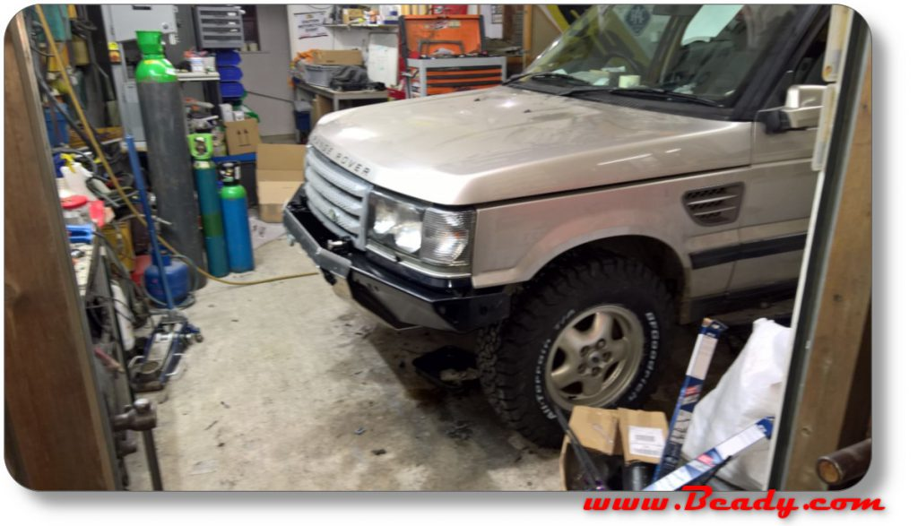 custom front bumper on range rover