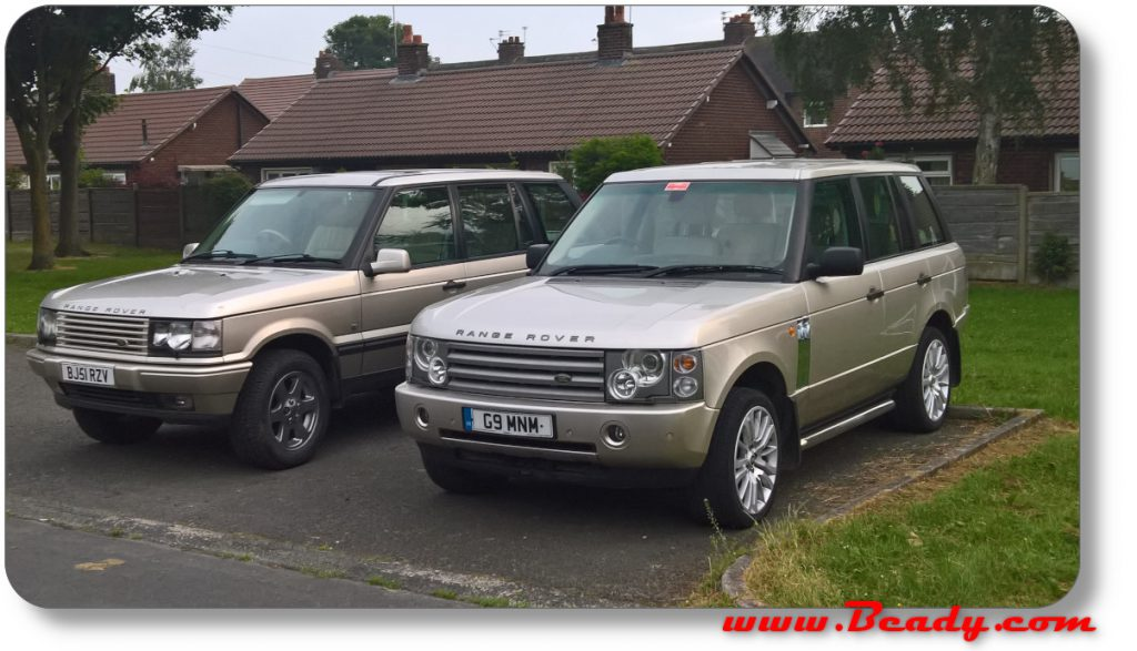 P38 and L322 in gold range rovers