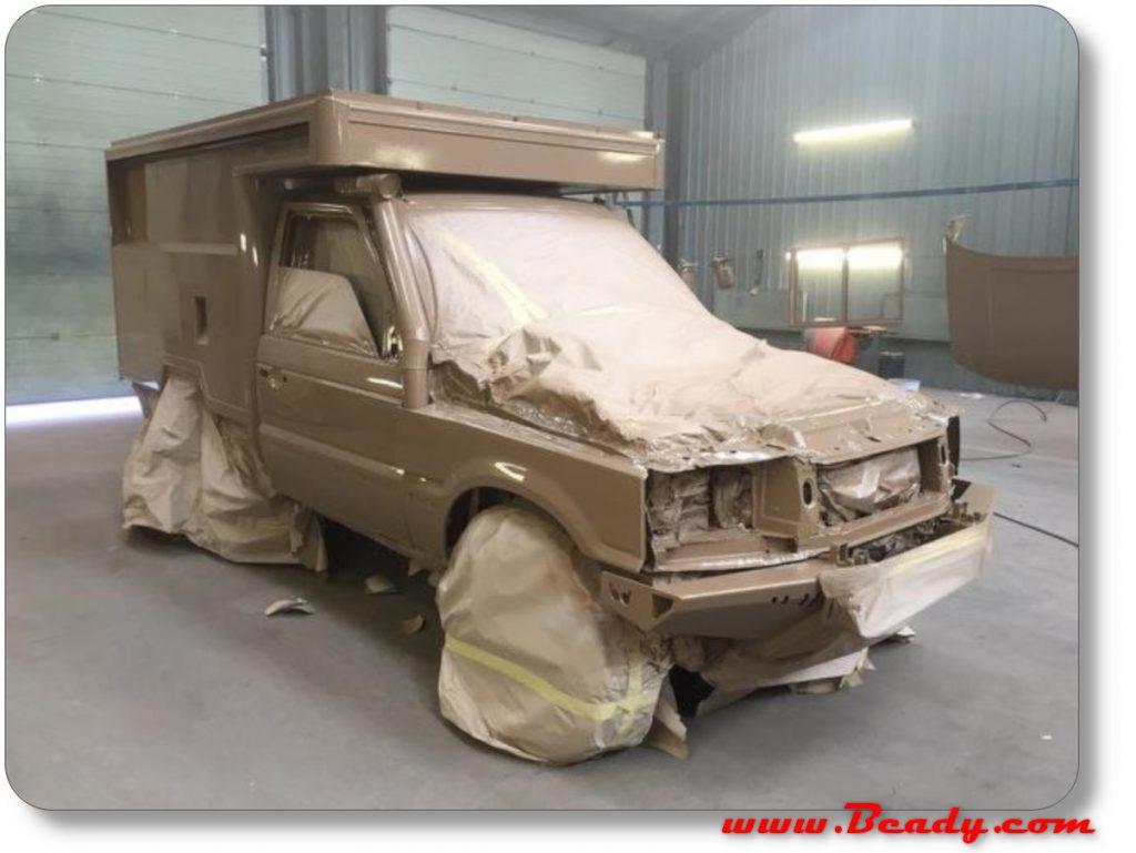 painting range rover campervan