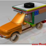 CAD model of Range rover hi detail