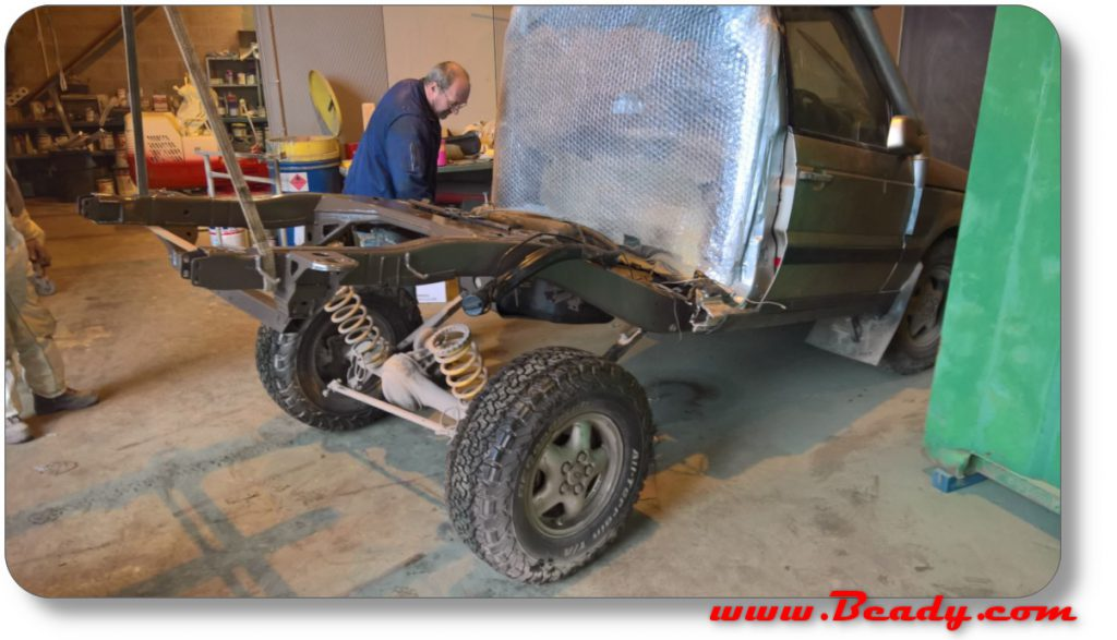 refitting rear axle to range rover overland camper project