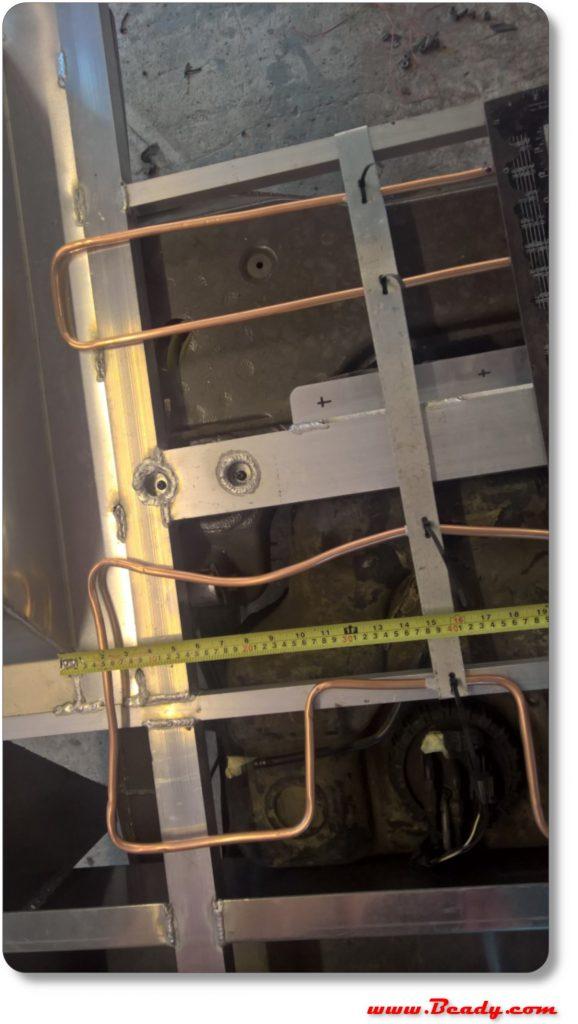 underfloor heating pipes on camper