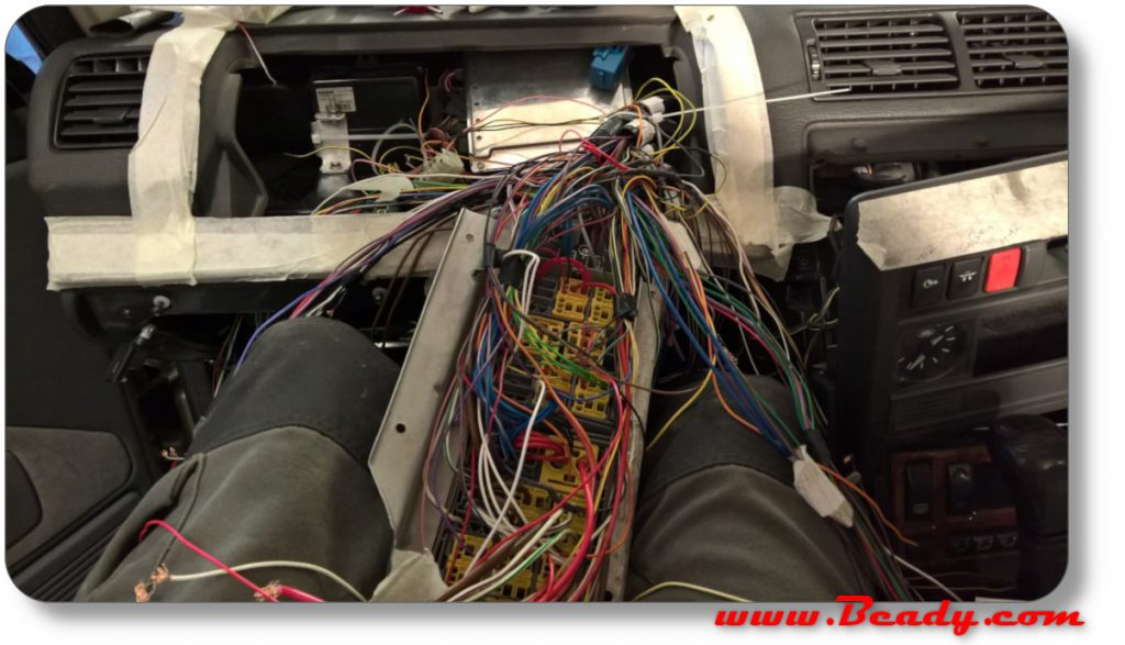 rewiring a range rover with a custom loom