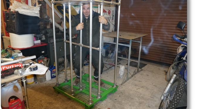 beady man in a cage for his own health