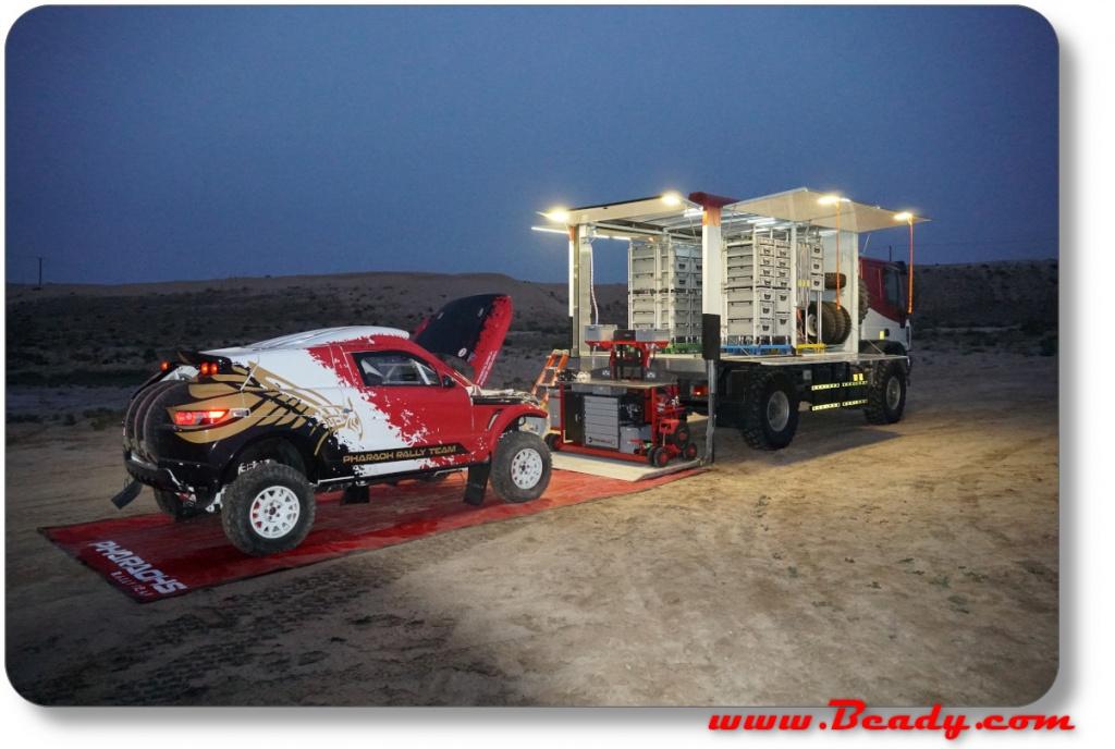Pharaohs rally team in Umm al quwain desert 2020 testing advanced new race support dakar truck system
