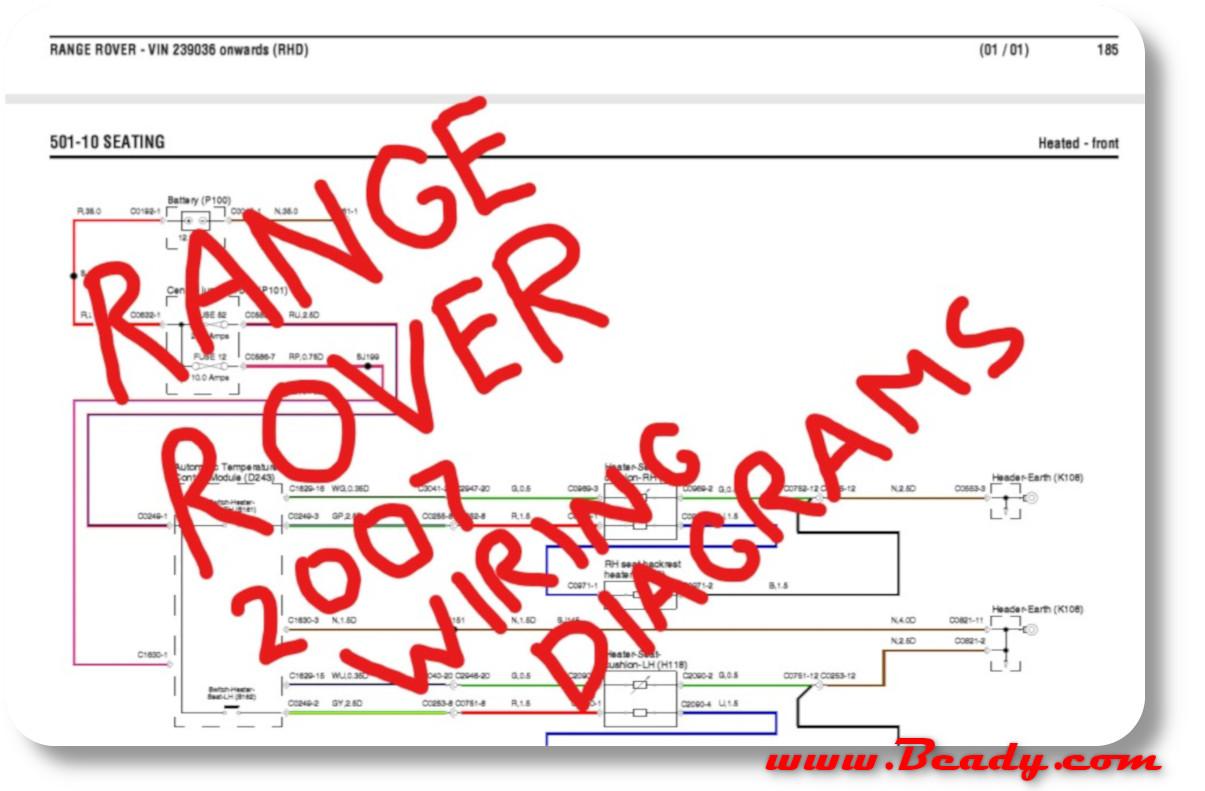 Range Rover Mk3 wiring Diagrams