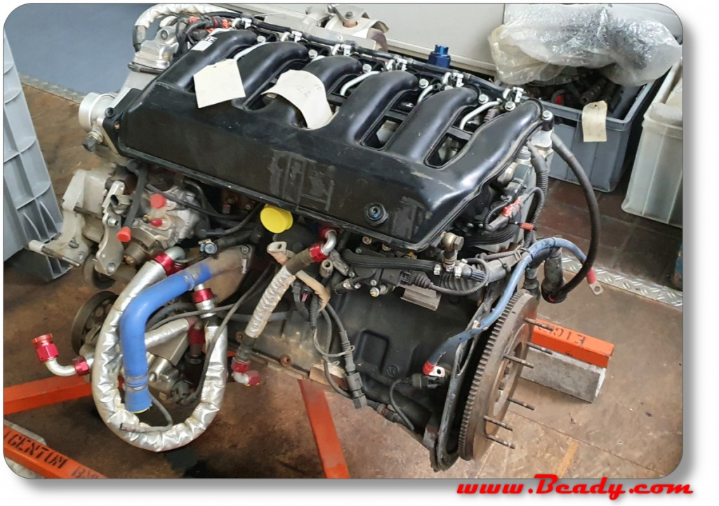 BMW diesel race engine from the steyr factory, Dakar, range rover campervan