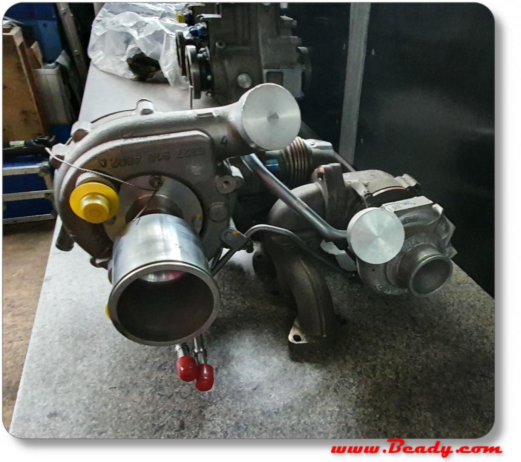 BMW massive twin turbo diesel engine manifold