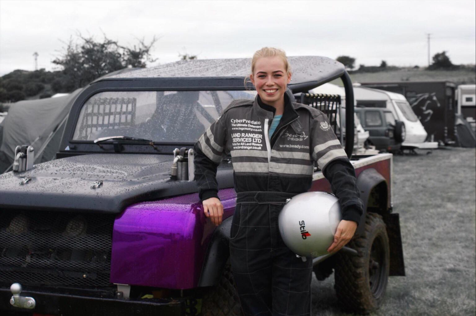 Chloe Jones at Anglesey interclub with North wales land rover club