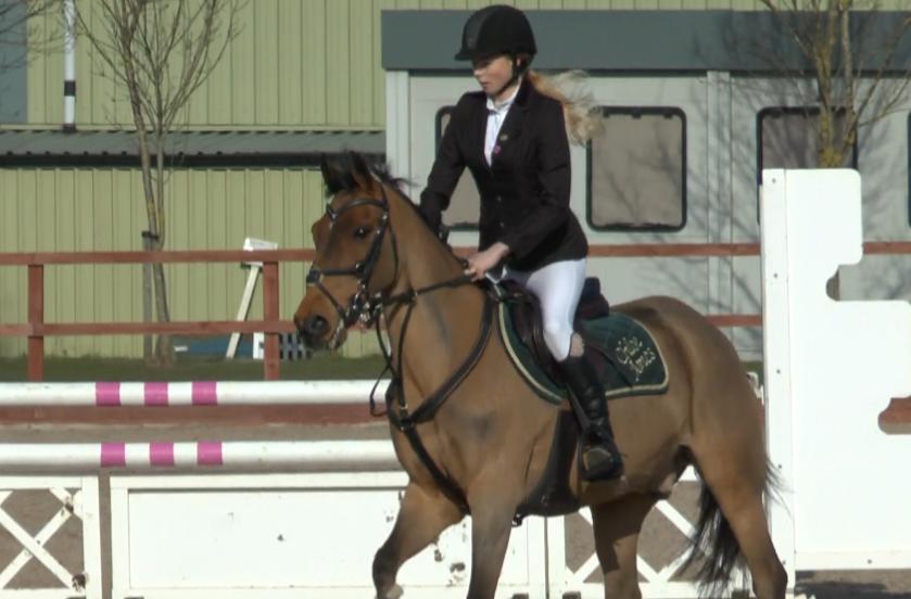Chloe Jones competing at Netley Hall