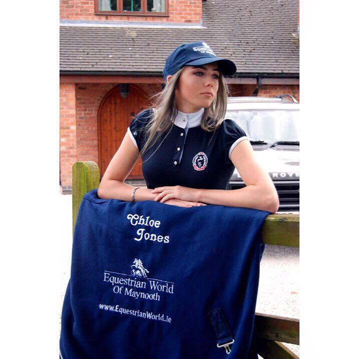 Chloe modeling in early June with products available from www.Equestrianworld.ie