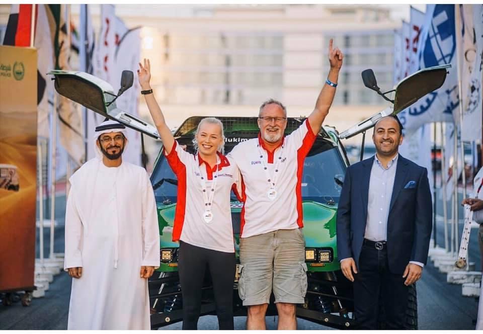 Saluki Motorsport Mark Powell and Chloe Jones Dubai International Baja 2019